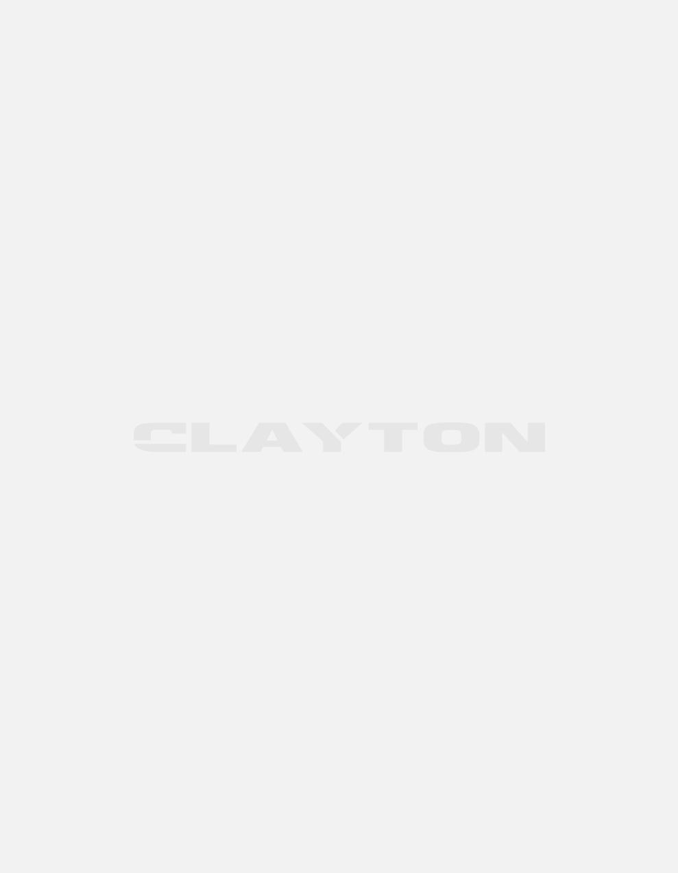 Textured stripes half collar jumper